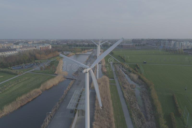 Parque de Clongriffin, Dublin windmills fotografia de stock