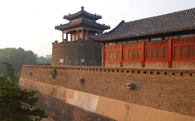 Parque de CongTai en la ciudad histórica Handan China imagen de archivo