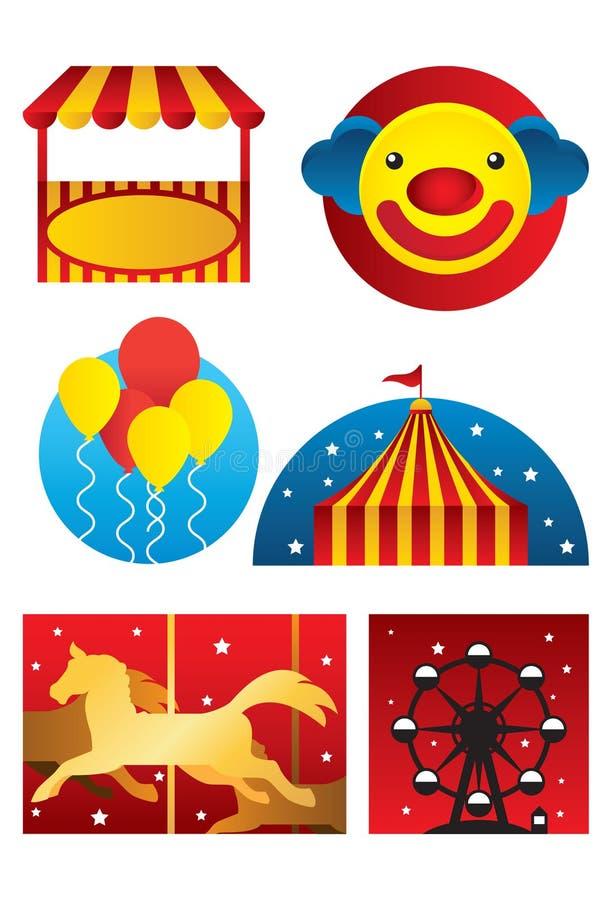 Parque de diversões ilustração royalty free