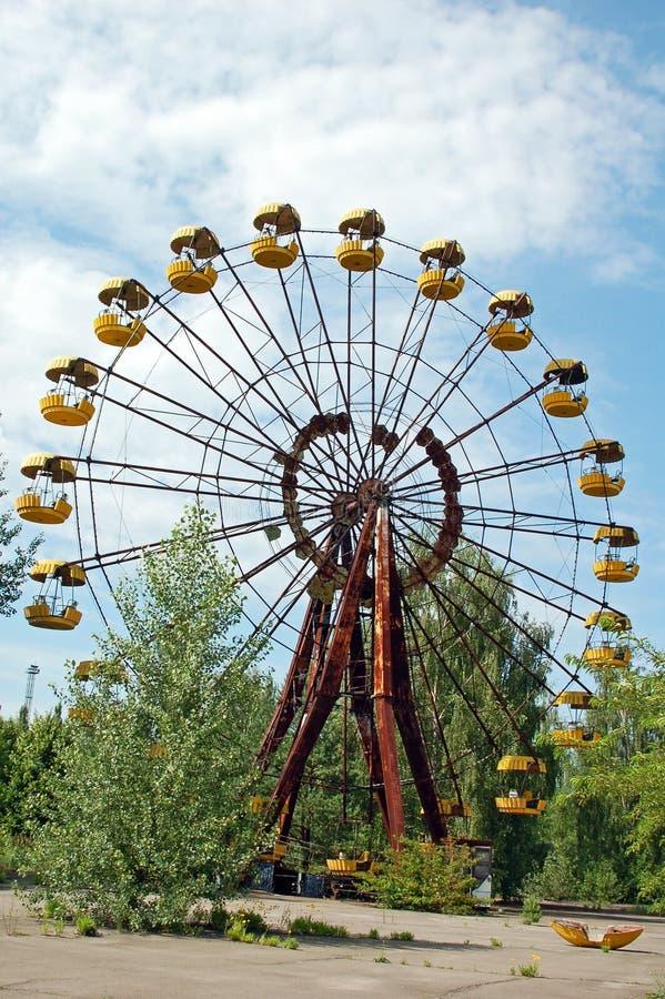 Parque de diversões abandonado em Pripyat imagem de stock