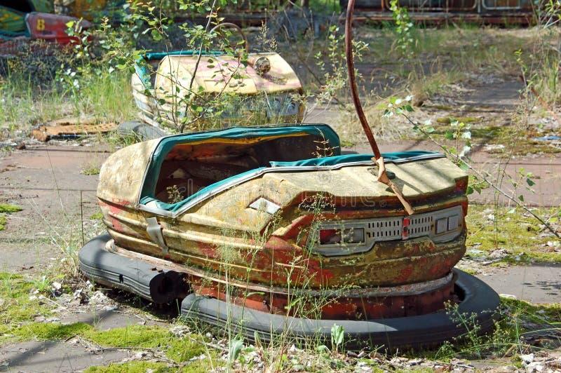 Parque de diversões abandonado em Pripyat fotografia de stock royalty free