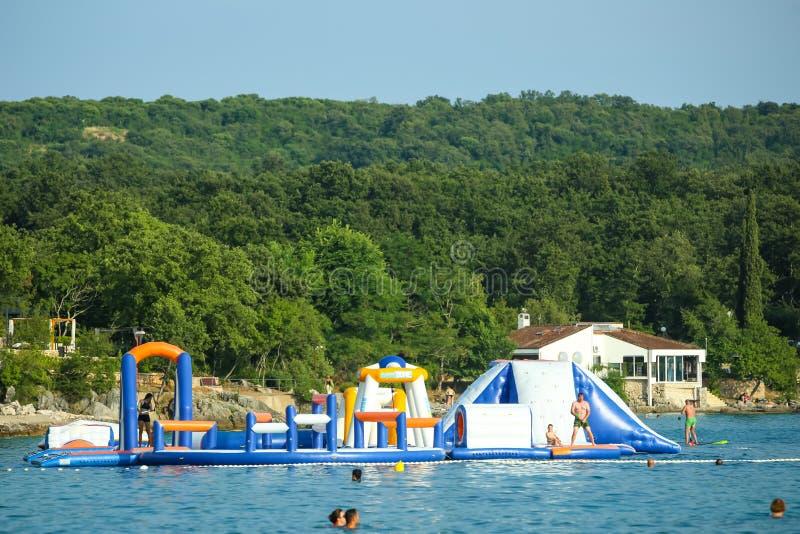 Parque de diversões na água fotos de stock