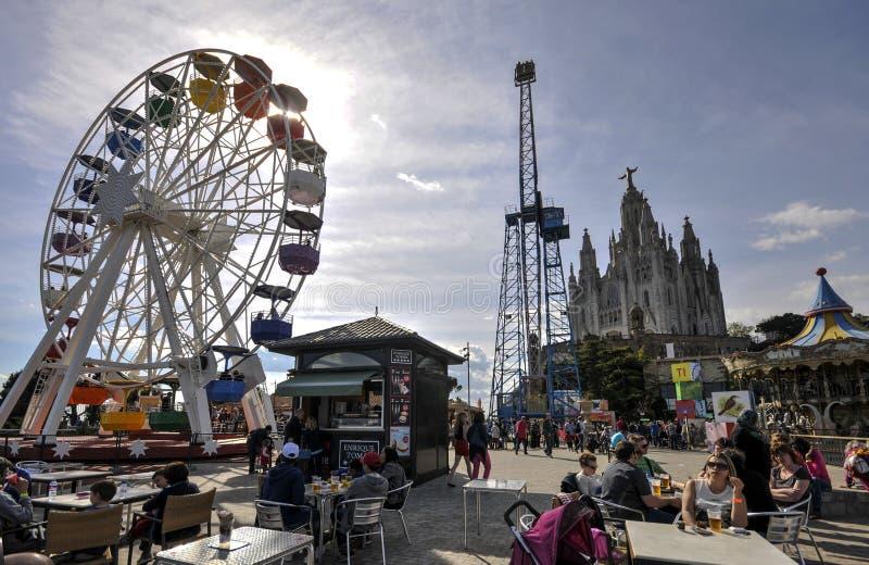 Parque de diversões de Tibidabo de Barcelona imagem de stock royalty free