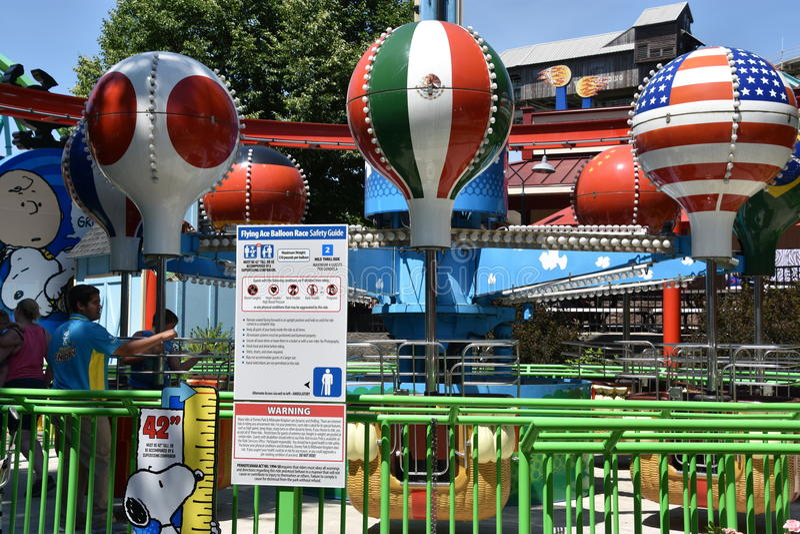 Parque de Dorney em Allentown, Pensilvânia fotos de stock royalty free
