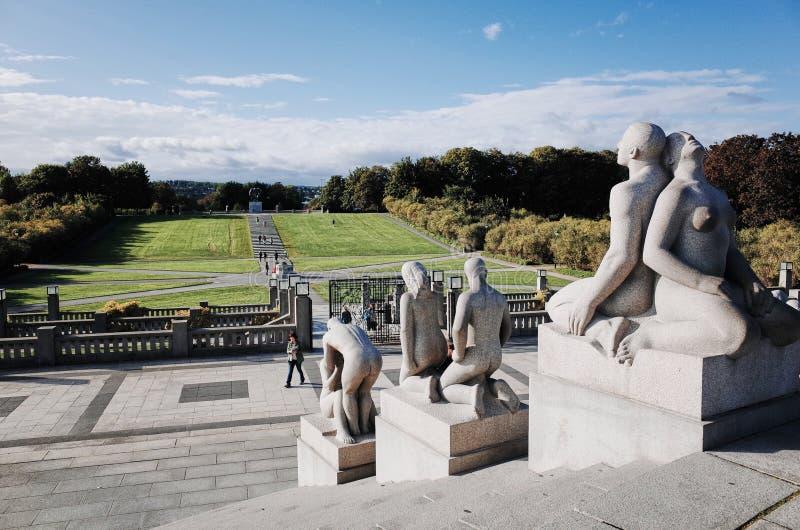 Parque de escultura de Vigeland, OSLO, NORUEGA foto de stock royalty free