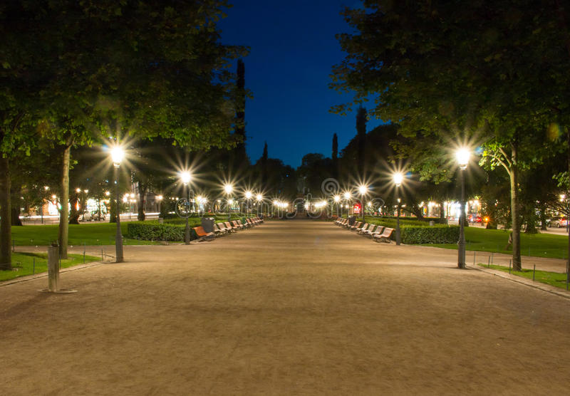 Parque de Esplanadinpuisto fotografia de stock royalty free