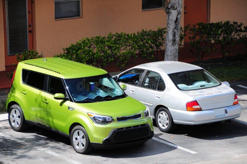 Parque de estacionamento, Florida sul imagens de stock