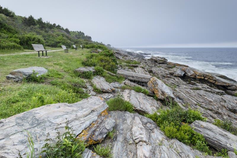 Parque de estado de dos luces en Maine Coast imagen de archivo