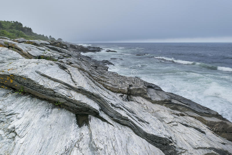 Parque de estado de dos luces en Maine Coast foto de archivo libre de regalías