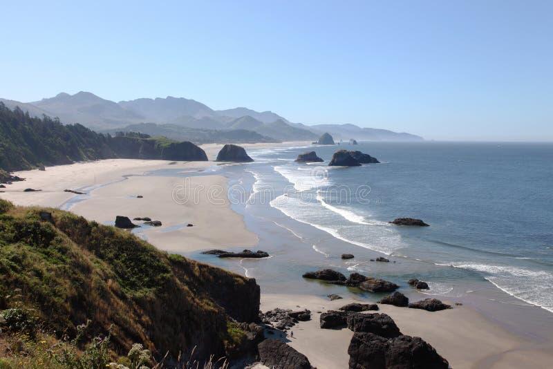 Parque de estado de Ecola, costa de Oregon & Oceano Pacífico. fotografia de stock royalty free