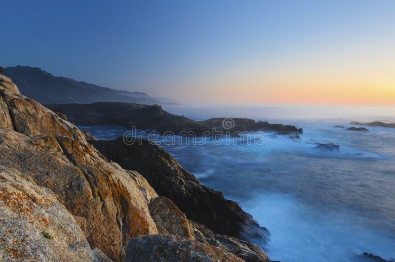 Parque de estado de Lobos do ponto, Monterey, Califórnia foto de stock royalty free