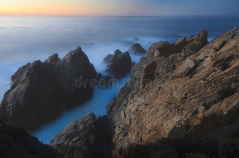 Parque de estado de Lobos do ponto, Monterey, Califórnia fotos de stock