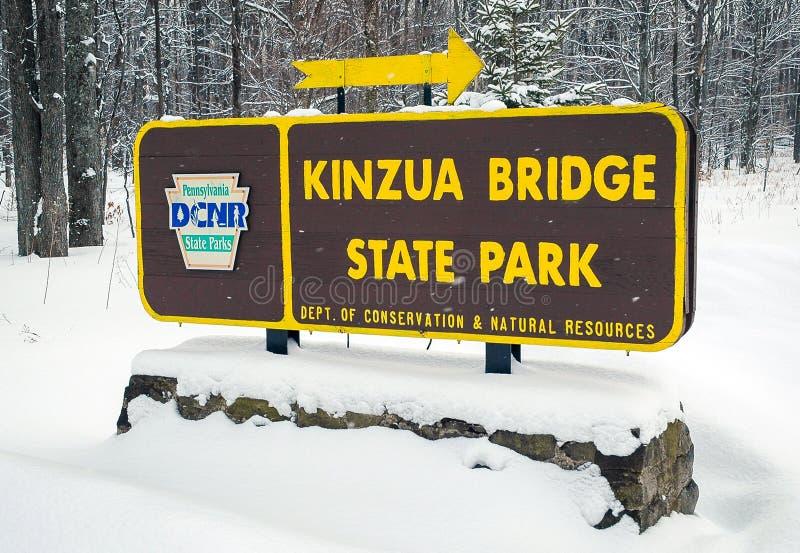 Parque de estado del puente de Kinzua fotos de archivo