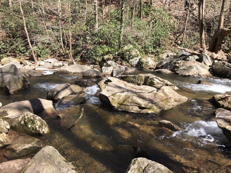 Parque de estado del sur de la montaña en el NC fotografía de archivo