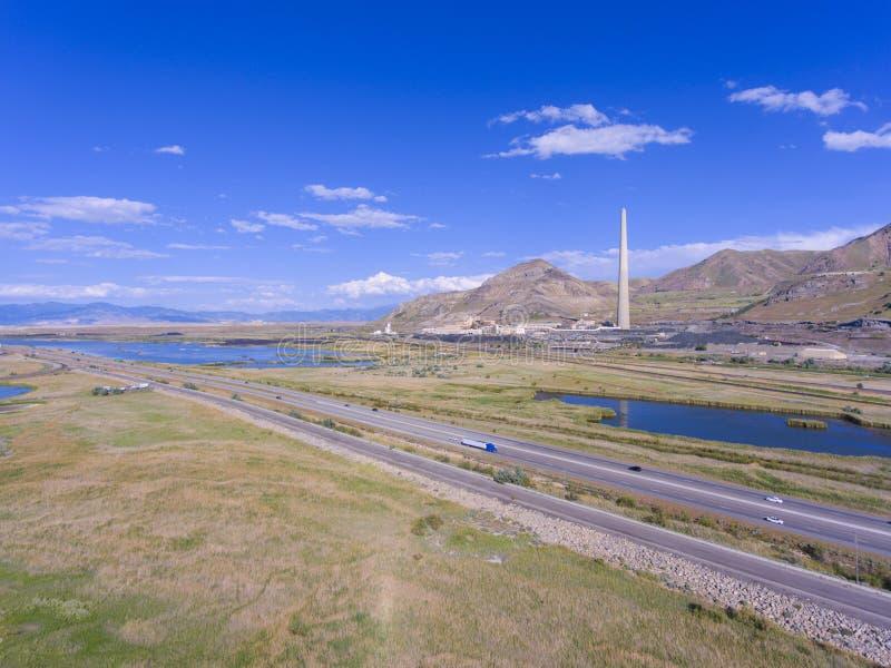 Parque de estado de Great Salt Lake, Utah, los E.E.U.U. imagen de archivo libre de regalías