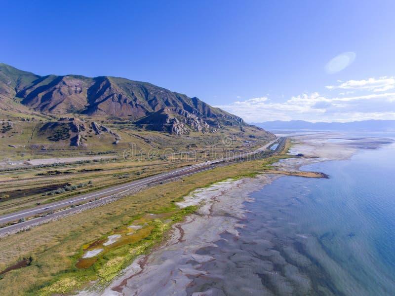 Parque de estado de Great Salt Lake, Utah, los E.E.U.U. imágenes de archivo libres de regalías