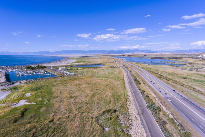 Parque de estado de Great Salt Lake, Utah, los E.E.U.U. imagenes de archivo