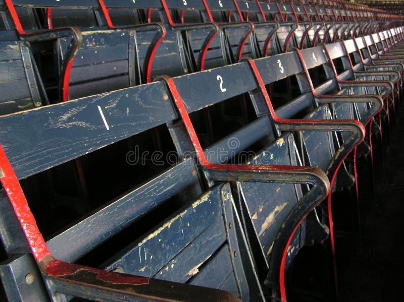 Parque de Fenway - um olhar nos 2 passados foto de stock