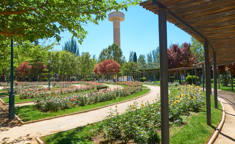 Parque de Fiesta del Arbol en Albacete España fotos de archivo