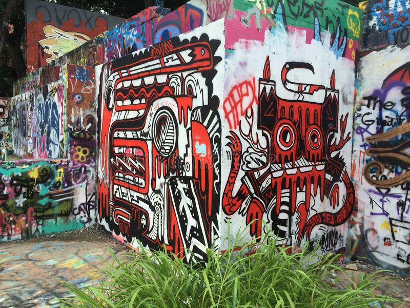 Parque de Grafiti foto de archivo