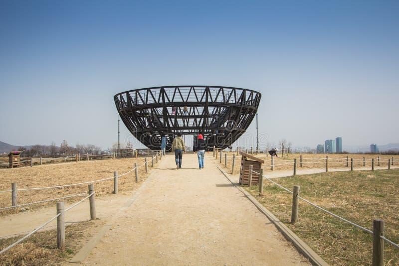 Parque de Haneul em Seoul Coreia do Sul fotos de stock royalty free
