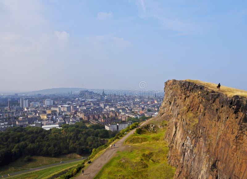 Parque de Holyrood em Edimburgo imagens de stock royalty free