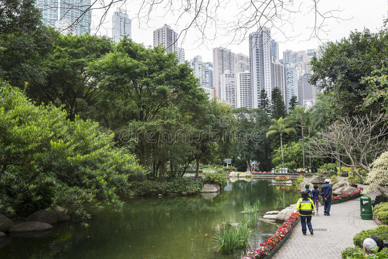 Parque de Hong-Kong fotos de archivo