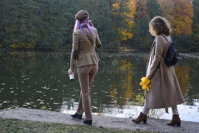 Parque de Izmailovo mosc? Rusia 10 14 2018 Oto?o Camine la juventud en el parque del otoño fotos de archivo libres de regalías