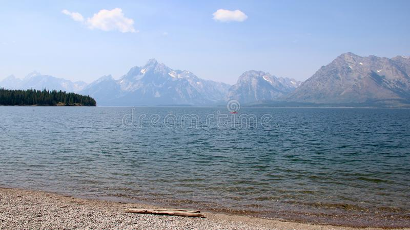 Parque de Jenny Lake Grand Teton National, Wyoming imagem de stock