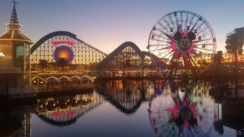 Parque de la aventura de California en diciembre fotos de archivo