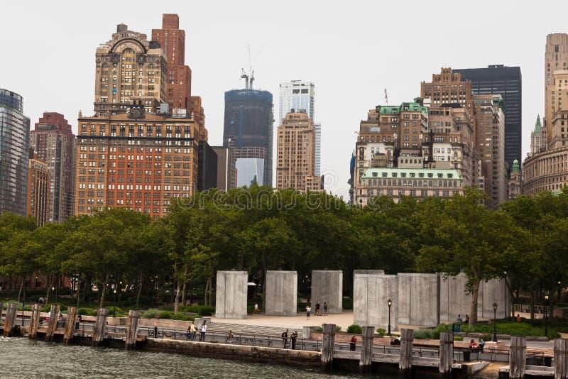 Parque de la batería de New York City imagen de archivo
