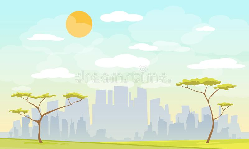 Parque de la ciudad urbano ilustración del vector