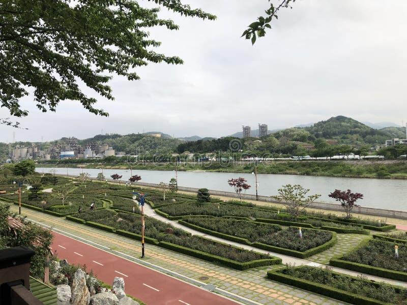 Parque de la familia en el Samcheok-si foto de archivo