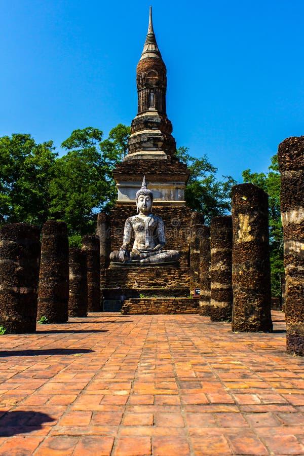 Parque de la historia de Sukothai foto de archivo