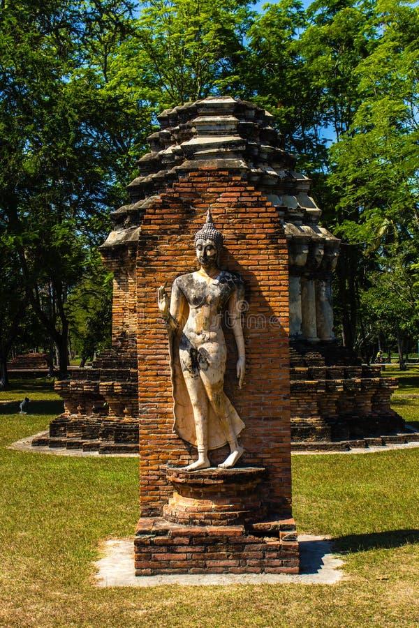 Parque de la historia de Sukothai fotos de archivo