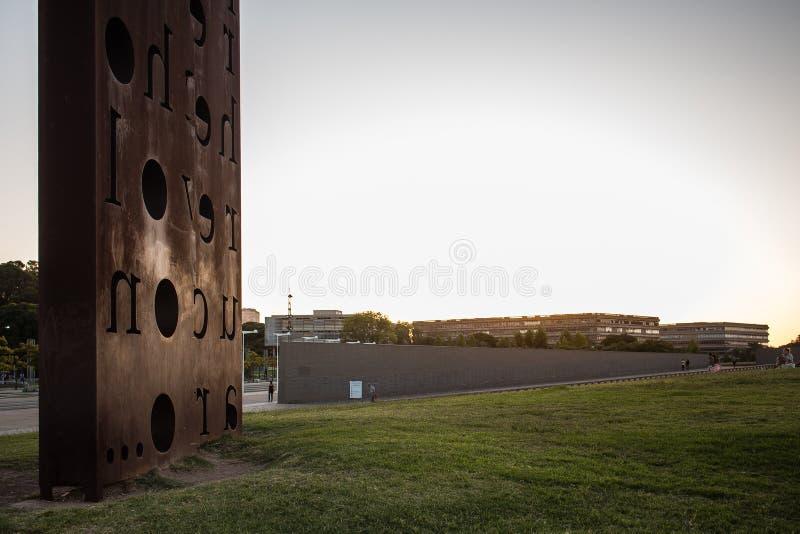Parque de la Memoria (Monumento) royaltyfri foto