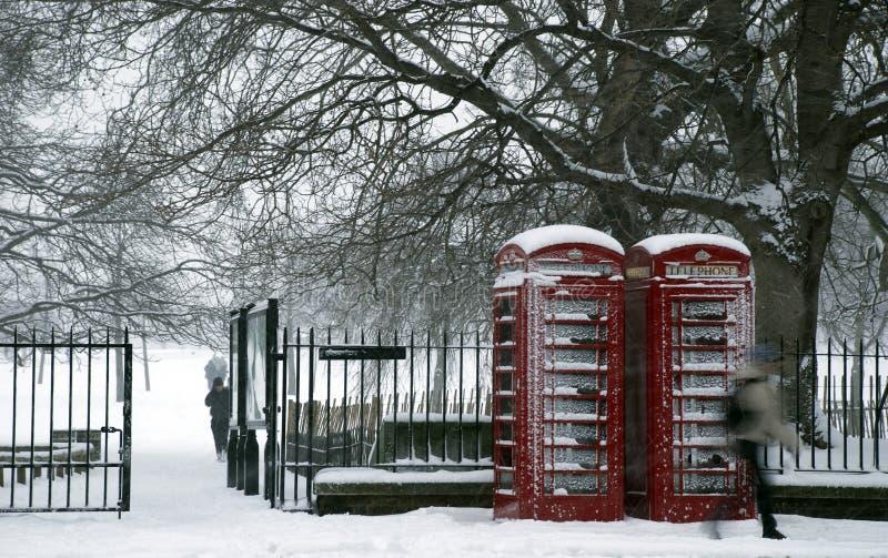 Parque de la nieve foto de archivo