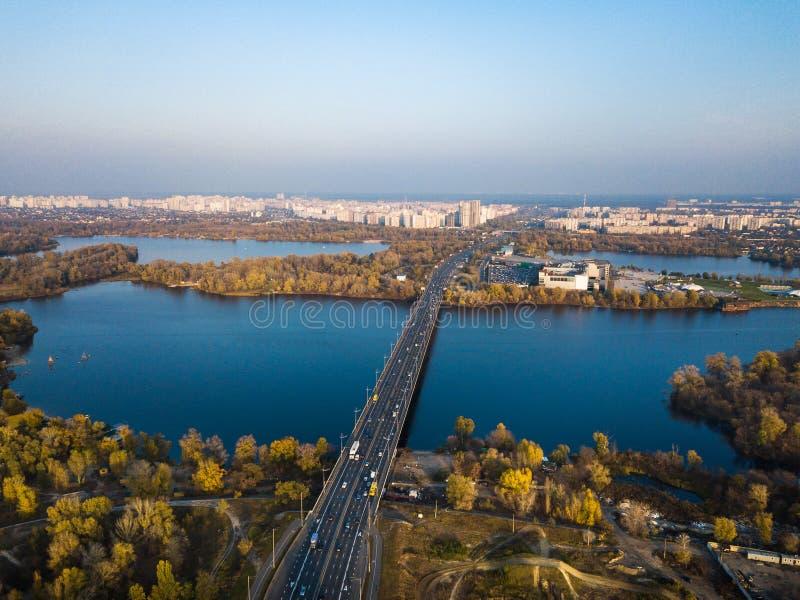 Parque de la reconstrucción en el distrito de Obolon en Kiev fotos de archivo libres de regalías