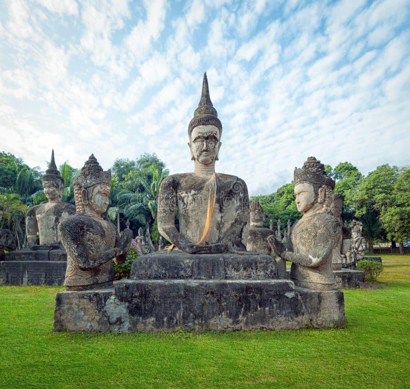 Parque de Laos Buda Atracción turística en Vientián foto de archivo