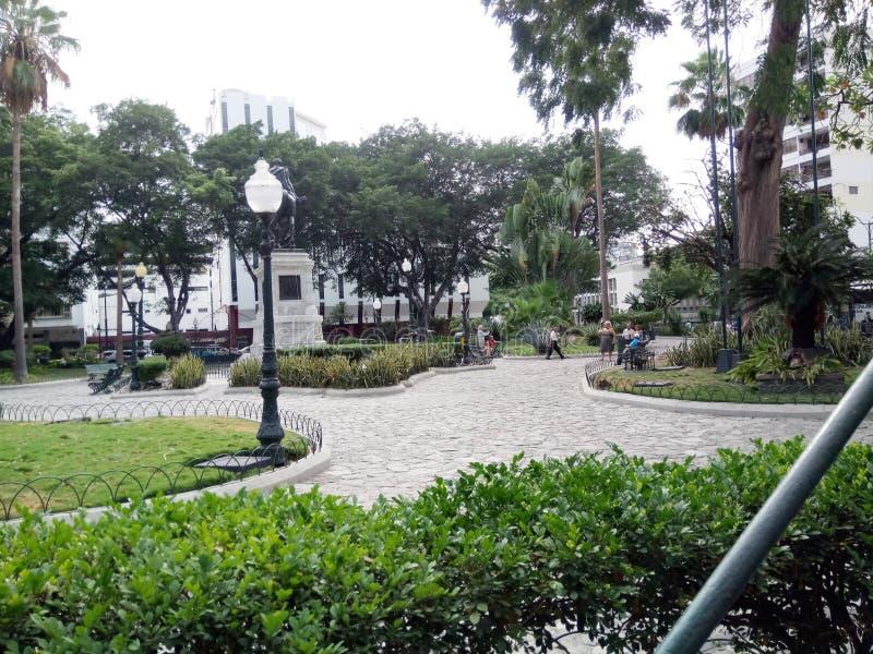 Parque de las iguanas o parque de Seminario en Guayaquil imagenes de archivo
