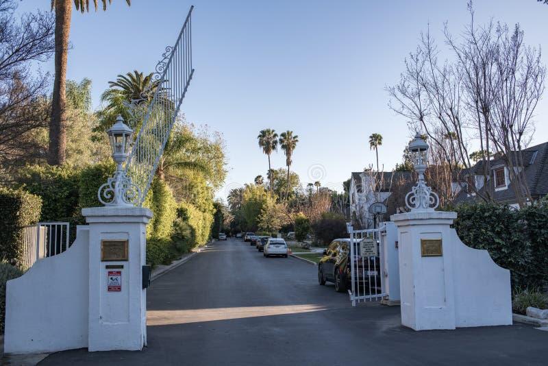 Parque de Laughlin, um privado, condomínio fechado em Los Angeles imagens de stock royalty free