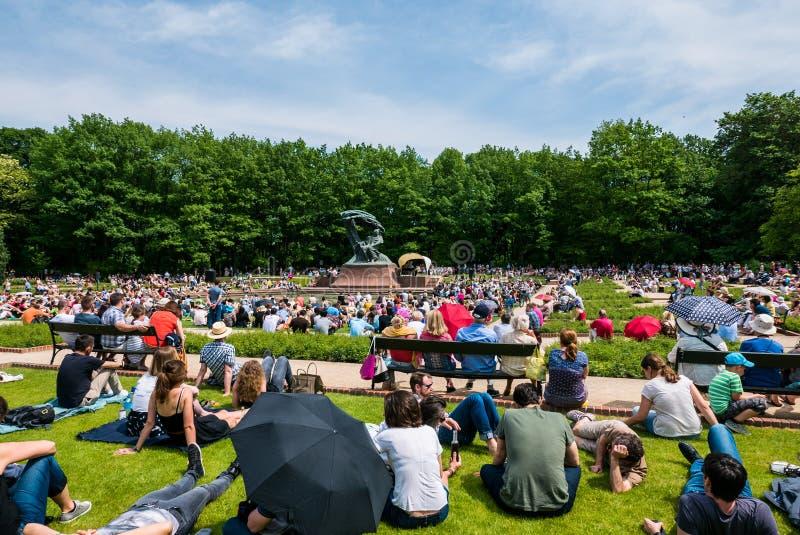Parque de Lazienki, Varsovia, Polonia foto de archivo