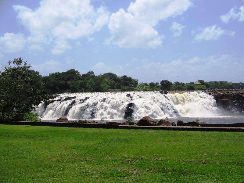 Parque de Llovizna del La, caída tropical del agua foto de archivo