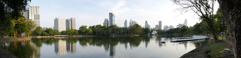 Parque de Lumphini, Banguecoque imagem de stock
