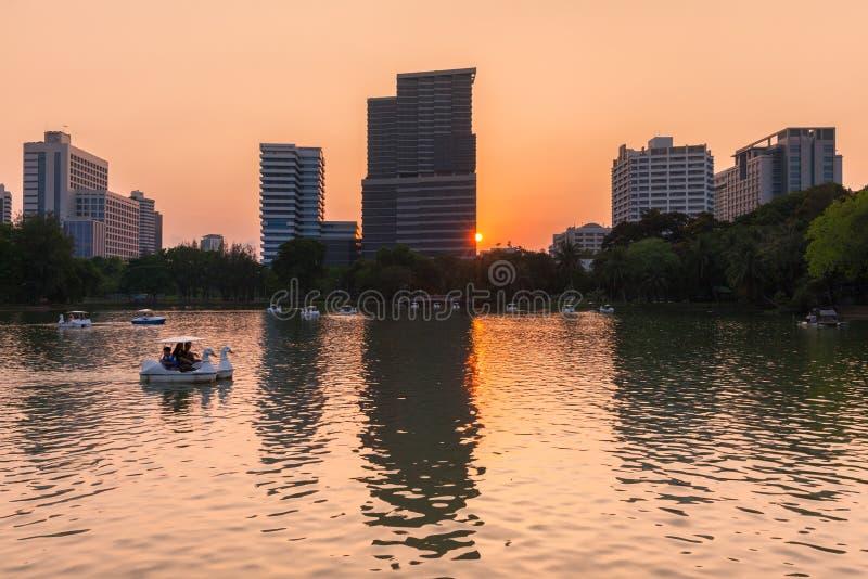 Parque de Lumpini, Bangkok, Tailandia imagen de archivo libre de regalías