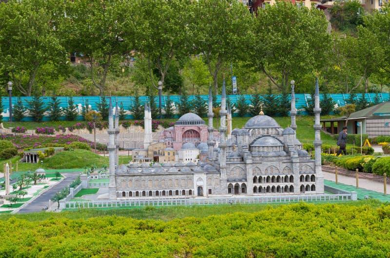 Parque de Miniaturk em Istambul imagem de stock royalty free