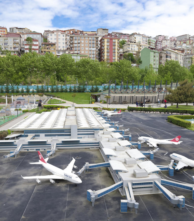 Parque de Miniaturk em Istambul fotografia de stock