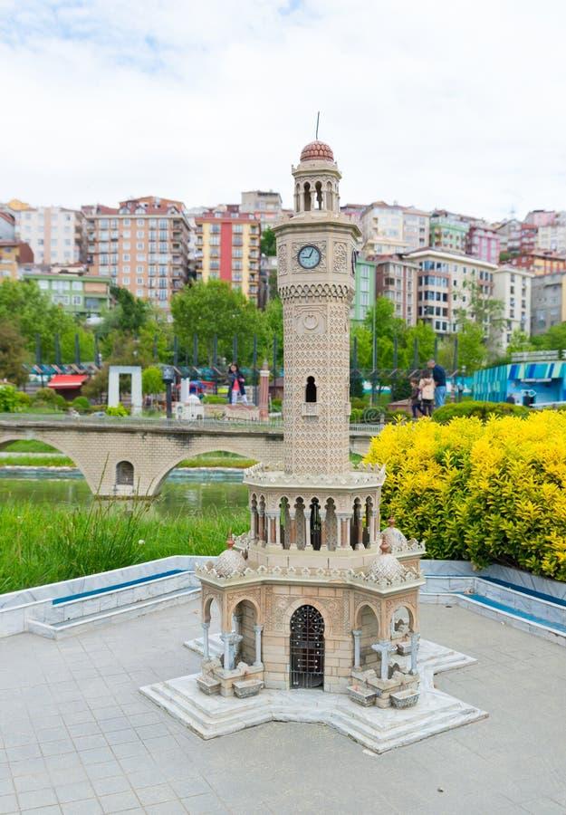 Parque de Miniaturk em Istambul fotos de stock royalty free