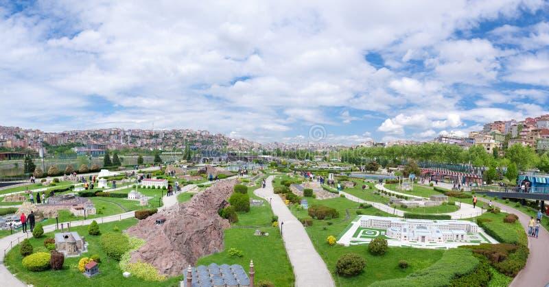 Parque de Miniaturk em Istambul fotografia de stock royalty free