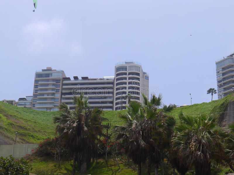 Parque de Miraflores no penhasco imagens de stock